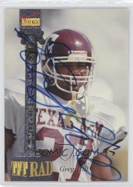 1994 Signature Rookies Tetrad Signatures #33 - Greg Hill /7750