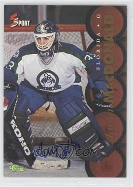 1995 Classic 5 Sport - [Base] - Non-Numbered Autographs [Autographed] #AAMA - Aaron MacDonald