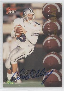 1995 Classic 5 Sport - [Base] - Non-Numbered Autographs [Autographed] #CHMA - Chad May