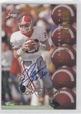 1995 Classic 5 Sport - [Base] - Non-Numbered Autographs [Autographed] #ERZE - Eric Zeier