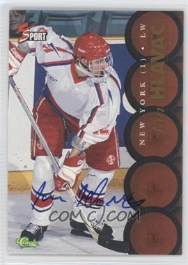 1995 Classic 5 Sport - [Base] - Non-Numbered Autographs [Autographed] #JAHL - Jan Hlavac