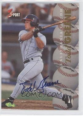 1995 Classic 5 Sport - [Base] - Non-Numbered Autographs [Autographed] #TOGR - Todd Greene