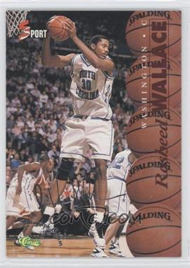 1995 Classic 5 Sport Autograph Edition Silver #S4 - Rasheed Wallace