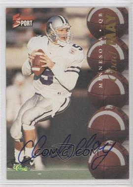1995 Classic 5 Sport Non-Numbered Autographs [Autographed] #CHMA - Chad May