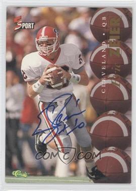 1995 Classic 5 Sport Non-Numbered Autographs [Autographed] #N/A - Eric Zeier