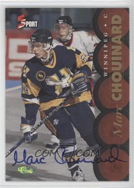 1995 Classic 5 Sport Non-Numbered Autographs [Autographed] #N/A - Marc Chouinard
