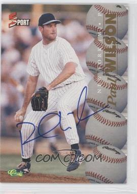 1995 Classic 5 Sport Non-Numbered Autographs [Autographed] #PAWI - Paul Wilson