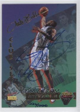 1995 Signature Rookies Tetrad AutoBilia Club Set Autographs [Autographed] #74 - Jerry Stackhouse /800