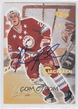 1996 Classic Visions Signings Autographs Gold Foil #RIJA - Richard Jackman