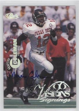 1996 Classic Visions Signings Autographs Silver Foil #N/A - Marcus Coleman /395