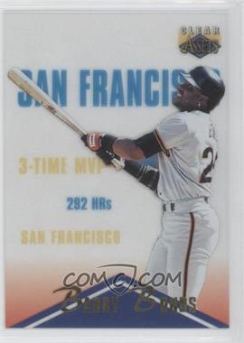 1996 Clear Assets #52 - Barry Bonds