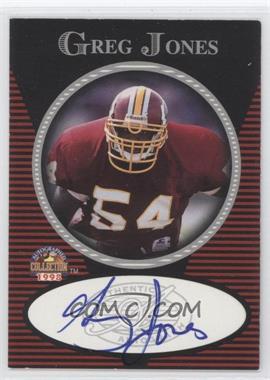 1997-98 Score Board Autographed Collection Authentic Autograph #N/A - Greg Jones