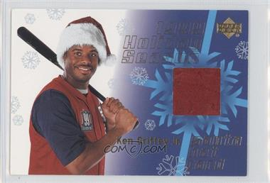 1999 Upper Deck Holiday Season Santa Hat Relic - [Base] #HH-1 - Ken Griffey Jr.