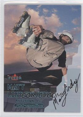 2000 Fleer Adrenaline Autographs [Autographed] #MALI - Matt Lindenmuth