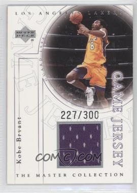2000 Upper Deck Los Angeles Lakers The Master Collection Game Jersey #KB-J - Kobe Bryant /300