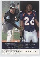 First Class Rookies - Cam Esslinger, Clinton Portis /250