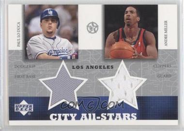 2002-03 Upper Deck UD Superstars - City All-Stars Jersey Dual #PL/AM-C - Paul Lo Duca, Andre Miller