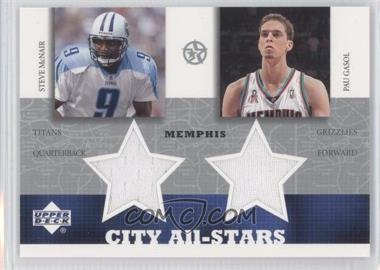 2002-03 Upper Deck UD Superstars - City All-Stars Jersey Dual #SM/PG-C - Steve McNair, Pau Gasol