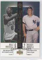Bill Russell, Mickey Mantle