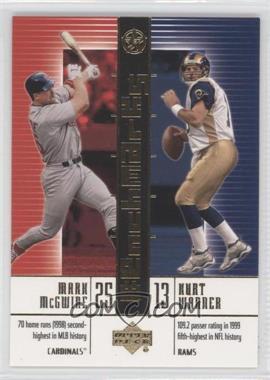 2002-03 Upper Deck UD Superstars BenchMarks #B9 - Mark McGwire, Kurt Warner