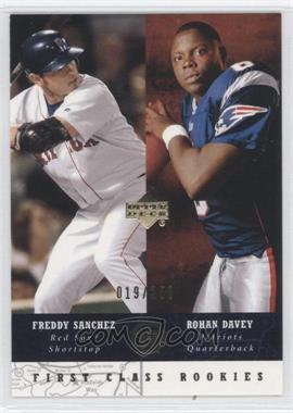 2002-03 Upper Deck UD Superstars Black #256 - First Class Rookies - Freddy Sanchez, Rohan Davey /250