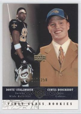 2002-03 Upper Deck UD Superstars Black #280 - First Class Rookies - Curtis Borchardt, Donte' Stallworth /250