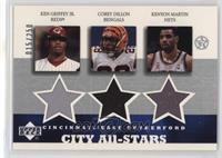 Ken Griffey Jr., Corey Dillon, Kenyon Martin /250