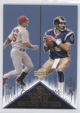 2002-03 Upper Deck UD Superstars Keys to the City #K3 - Mark McGwire, Kurt Warner