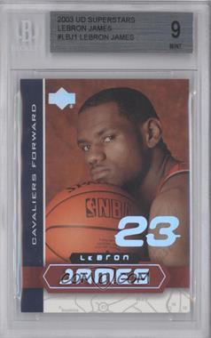 2002-03 Upper Deck UD Superstars Lebron James #LBJ-1 - Lebron James [BGS9]