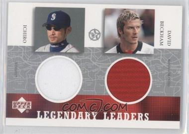 2002-03 Upper Deck UD Superstars Legendary Leaders Dual #IS-DB-L - Ichiro Suzuki, David Beckham