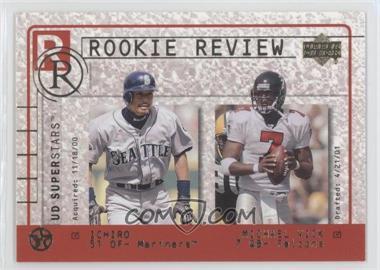 2002-03 Upper Deck UD Superstars Rookie Review #R2 - Ichiro Suzuki, Michael Vick