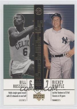 2003 Upper Deck UD Superstars [???] #B4 - Bill Russell, Mickey Mantle