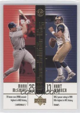 2003 Upper Deck UD Superstars [???] #B9 - Mark McGwire, Kurt Warner