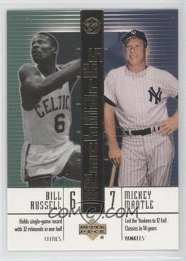 2003 Upper Deck UD Superstars BenchMarks #B4 - Bill Russell, Mickey Mantle