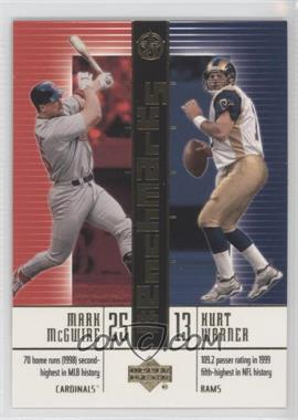2003 Upper Deck UD Superstars BenchMarks #B9 - Mark McGwire, Kurt Warner