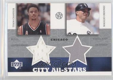 2003 Upper Deck UD Superstars City All-Stars Jersey Dual #TC/MO-C - Tyson Chandler, Magglio Ordonez