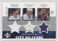 Shawn Green, Wayne Gretzky, Kobe Bryant /250