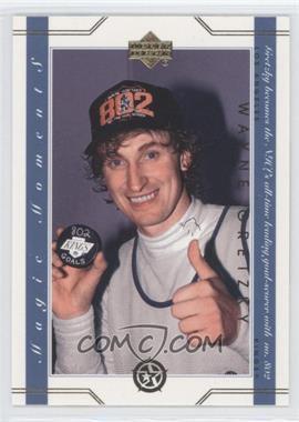 2003 Upper Deck UD Superstars Magic Moments #MM18 - Wayne Gretzky