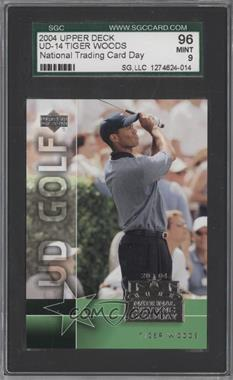 2004 National Trading Card Day #UD-14 - Tiger Woods [SGC 96]