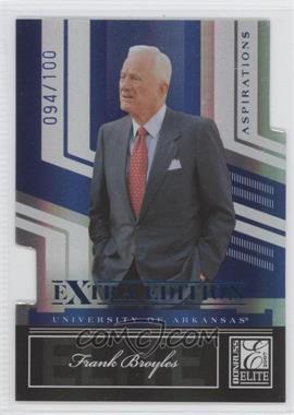 2007 Donruss Elite Extra Edition - [Base] - Aspirations Die-Cut #70 - Frank Broyles /100