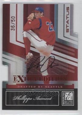 2007 Donruss Elite Extra Edition - [Base] - Status Die-Cut Signatures [Autographed] #128 - Phillippe Aumont /50