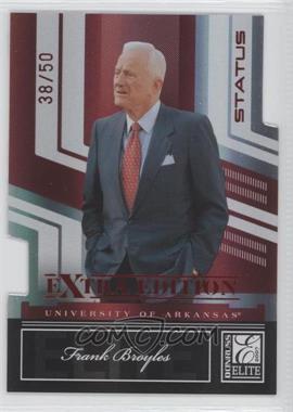 2007 Donruss Elite Extra Edition - [Base] - Status Die-Cut #70 - Frank Broyles /50
