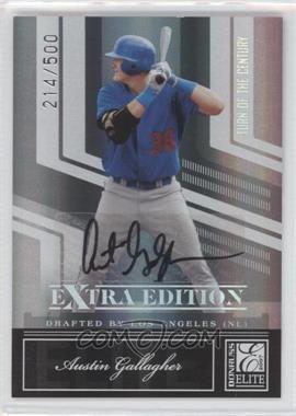 2007 Donruss Elite Extra Edition - [Base] - Turn of the Century Signatures [Autographed] #2 - Austin Gallagher /500