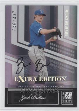 2007 Donruss Elite Extra Edition - [Base] - Turn of the Century Signatures [Autographed] #50 - Zach Britton /437