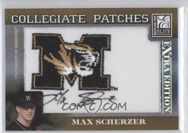 2007 Donruss Elite Extra Edition - Collegiate Patches #CP-MS - Max Scherzer /182