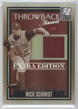 2007 Donruss Elite Extra Edition - Throwback Threads #TT-NS - Nick Schmidt /500