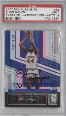 2007 Donruss Elite Extra Edition Aspirations Die-Cut Signatures [Autographed] #83 - Elvin Hayes /100 [PSA 9]