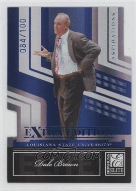 2007 Donruss Elite Extra Edition Aspirations Die-Cut #67 - Dale Brown /100