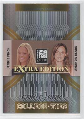 2007 Donruss Elite Extra Edition College Ties Gold #CT-6 - Amanda Beard, Jennie Finch /500