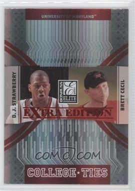 2007 Donruss Elite Extra Edition College Ties Red #CT-12 - Brett Cecil, D. J. Strawberry /100